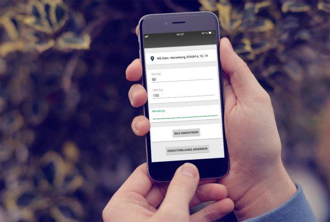 Die Winterdienst-App von SchmidtWeissGrün im Einsatz